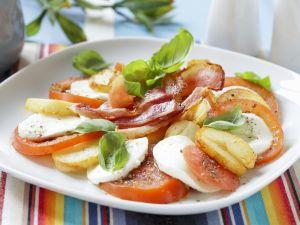 Caprese mit Kartoffeln und Speck Rezept