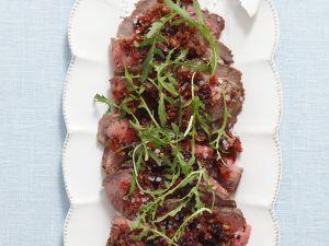 Carpaccio aus Roastbeef Rezept