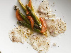 Carpaccio von Dorade und Spargel Rezept
