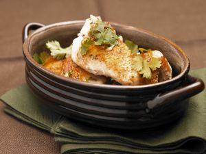 Catfish mit Koriander auf Cajun-Art Rezept