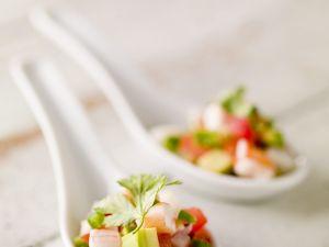 Ceviche mit Garnelen und Avocado Rezept