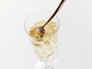 Champagner-Blattgoldgelee Rezept