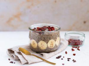 Chia-Mandelmilch-Pudding Rezept