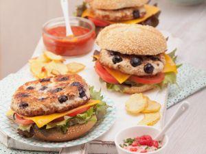 Chicken Burger mit Beeren Rezept