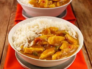 Chicken Curry mit Reis Rezept