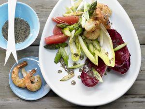 Chicorée-Garnelen-Salat Rezept