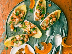 Chicorée mit Lachs-Ceviche Rezept