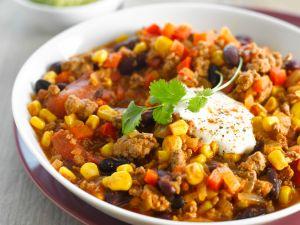 Chili mit Mais und Bohnen Rezept