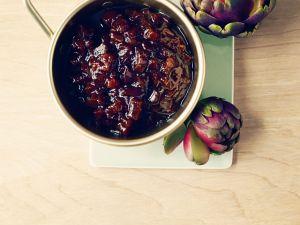 Chutney mit Rhabarber und Zwiebeln Rezept