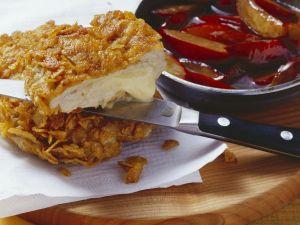 Cornflakes-Schnitzel mit Käsefüllung Rezept