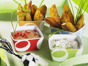 Country Potatoes mit Dips Rezept