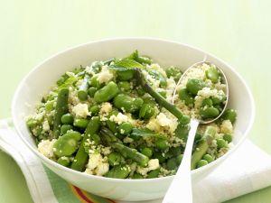 Couscous mit grünem Gemüse Rezept