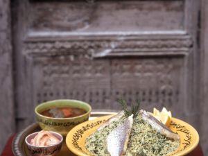 Couscous mit Kräutern und Fisch Rezept