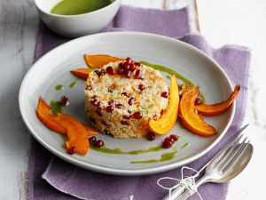 Couscous mit Kürbis und Kräuteröl Rezept