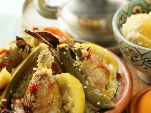 Couscous mit marokkanischem Hähnchen Rezept