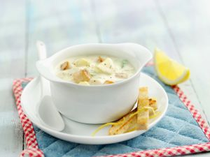 Cremige Suppe mit Muscheln Rezept