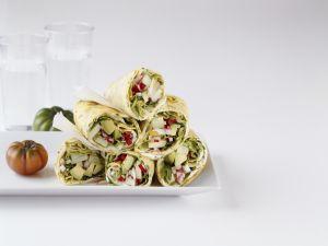 Crêpes mit Gemüsefüllung Rezept