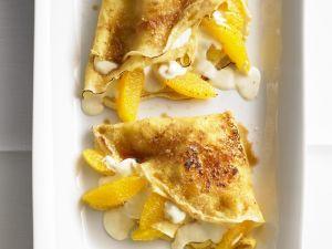 Crêpes mit Mascarpone-Orangen-Creme Rezept