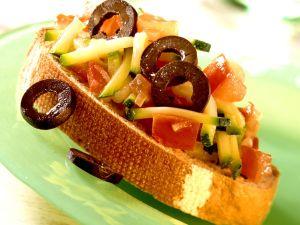 Crostini mit Zucchinigemüse Rezept