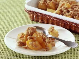 Crumble mit Pfirsichen Rezept
