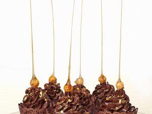 Cupcakes mit Schokolade und Karamell Rezept