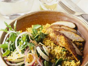 Curry-Hähnchen mit Couscous Rezept