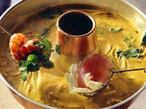 Curry-Kokos-Fondue Rezept