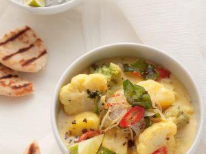 Curry mit Romanesco und Blumenkohl Rezept