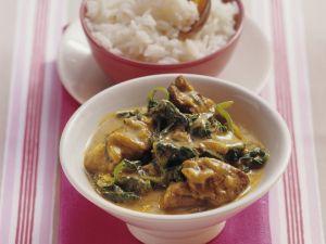 Curry mit Spinat und Lammfleisch Rezept