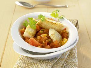 Curry nach indischer Art mit Heilbutt Rezept