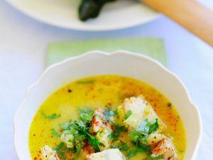 Currysuppe mit Fisch Rezept