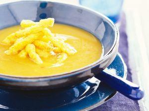 Currysuppe mit Fischfritten Rezept
