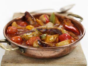 Deftige Wurst-Gemüse-Pfanne Rezept