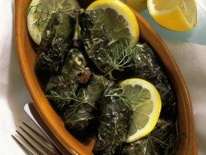 Dolmades (gefüllte Weinblätter) Rezept