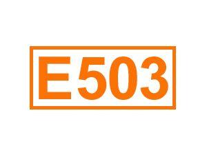 E 503 (Ammoniumcarbonate)