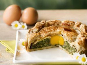 Ei-Spinat-Torte zu Ostern Rezept