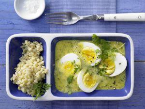 Eier in Curry-Senf-Sauce Rezept
