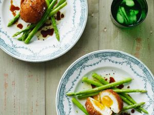 Eier frittiert mit Spargel Rezept