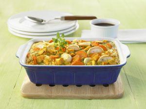 Eier-Gemüse-Gratin Rezept