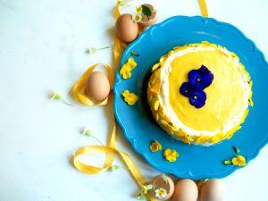 Eierlikörtorte mit Frischkäsecreme und Mango Rezept