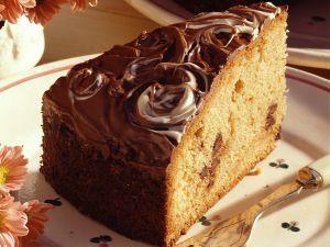 Einfacher Schokoladenkuchen mit Glasur Rezept