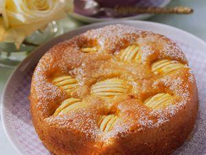 Einfacher versunkener Apfelkuchen Rezept