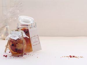 Eingelegte Senf-Birnen mit Orangen Rezept