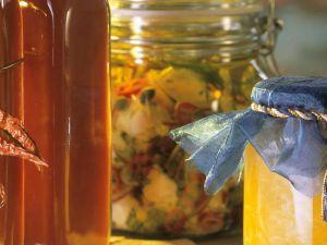 Eingelegter Mozzarella, Mango-Kokos-Konfitüre & Ketchup Rezept