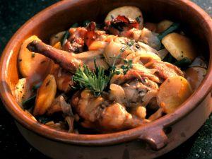 Eintopf mit Kaninchen und Rosmarin, Kartoffeln Rezept