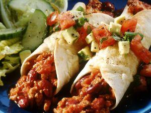 Enchiladas mit Chili-con-carne-Füllung Rezept