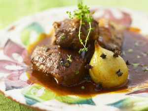 Ente in Rotweinsauce Rezept