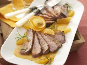 Ente mit Orangen-Campari-Soße Rezept