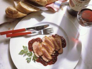 Entebrust mit Rotweinsauce Rezept