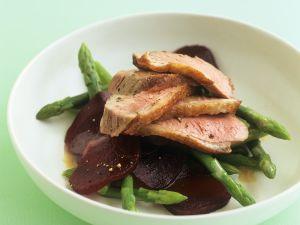 Entenbrust auf Gemüses Rezept